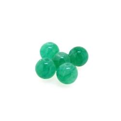 Gekleurd steen kraal, rond, groen, 8 mm (streng)