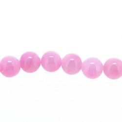 Gekleurd steen kraal, rond, roze, 4 mm (streng)