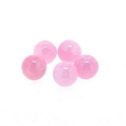 Gekleurd steen kraal, rond, roze, 6 mm (streng)