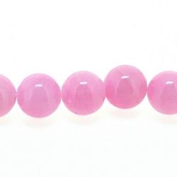 Gekleurd steen kraal, rond, roze, 8 mm (streng)