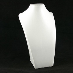 Buste, PU leer, wit, 30 x 18 cm (1 st.)