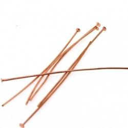 Nietstiften, roségoud, 60 mm (10 gr.)
