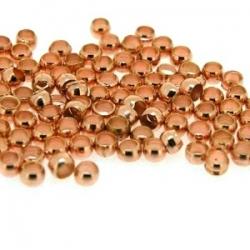 Knijpkralen roségoud 1,5 mm (10 gr.)