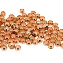 Knijpkralen roségoud 3 mm (10 gr.)