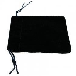 Velours buideltje, blauw, 7 x 6 cm (1 st.)