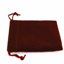Velours buideltje, rood, 7 x 6 cm (1 st.)