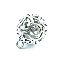 Filligrain, metaal, hanger, rond, zilver, 32 mm (1 st.)