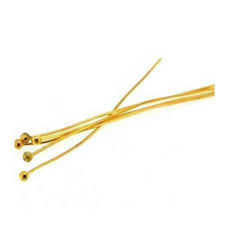 Nietstiften bolletje, goud, 50 mm (10 gram)