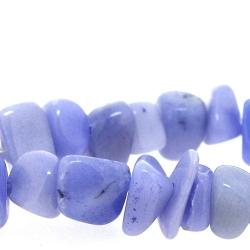 Gekleurd steen kraal, brok, lila, ca. 15 mm (streng)