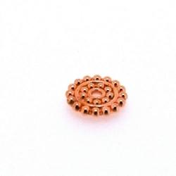 Metaal, schijfje, roségoud, 2 x 12 mm (5 st.)