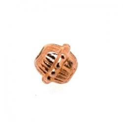 Metalen kraal, rond, ros goud, 6 mm (20 st.)
