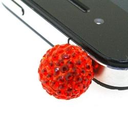 Pimpin glitterbal voor mobiele telefoon, oranje, 14 mm (1 st.)