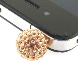 Pimpin glitterbal voor mobiele telefoon, nude, 14 mm (1 st.)