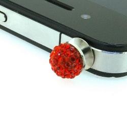 Pimpin glitterbal voor mobiele telefoon, oranje, 10 mm (1 st.)