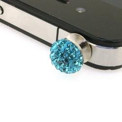 Pimpin glitterbal voor mobiele telefoon, 10 mm, turquoise (1 st.)