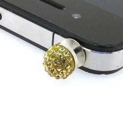 Pimpin glitterbal voor mobiele telefoon, goud, 10 mm (1 st.)