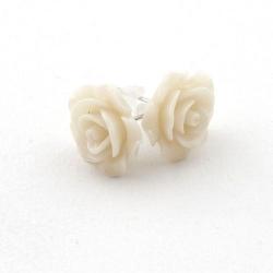Oorstekers roos off white 14mm (1 paar)