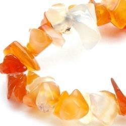 Chips/splitkraal, oranje/wit (1 streng)