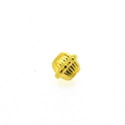 Metalen kraal, rond, goud, 6 mm (20 st.)