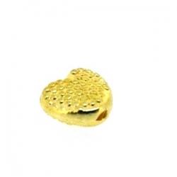 Metalen kraal, hart, goud, 6 mm (20 st.)