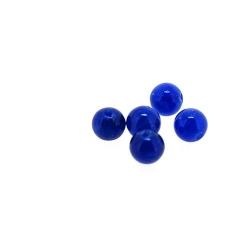 Gekleurd steen kraal, rond, blauw, 4 mm (streng)