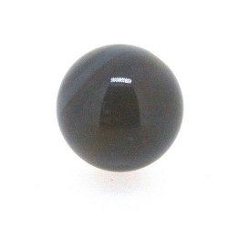 Agaat, kraal. rond, grijs, 14 mm (3 st.)