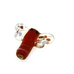 Glas kraal handgemaakt libelle rood 19 mm (1 st.)