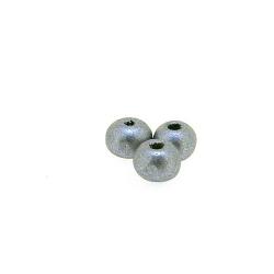 Houten kraal, rond, zilver, 5 mm (25 gram)