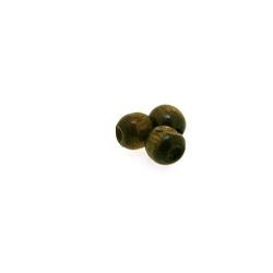 Houten kraal rond bruin 5 mm (25 gram)