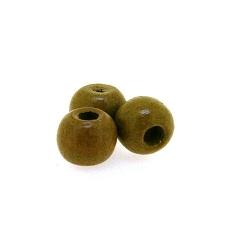 Houten kraal rond bruin 8 mm (25 gram)