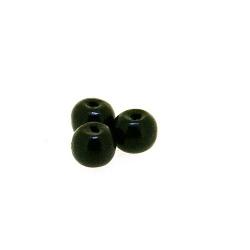 Houten kraal, rond, zwart, 6 mm (25 gram)