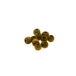 Houten kraal, rond, naturel, 2 mm (25 gram)