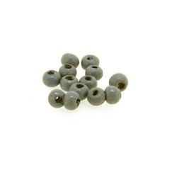 Houten kraal, rond, grijs, 2 mm (25 gram)