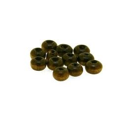 Houten kraal rond bruin 2 mm (25 gram)