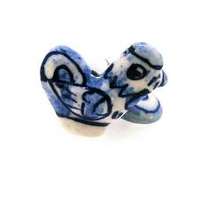 Keramiek kraal, haan, Delfts blauw, 24 mm (4 st.)