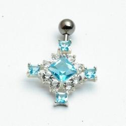 Piercing, blauw kruis (1 st.)
