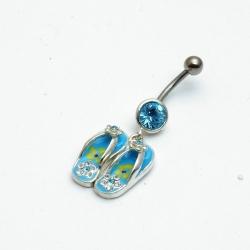 Piercing, blauwe slippertjes (1 st.)