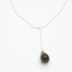 Ketting, sterling zilver met een hanger (1 st.)
