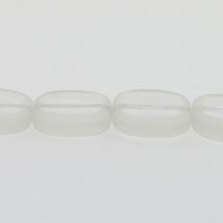 Glaskraal, ovaal, plat, transparant, 14 x 12 mm (streng)