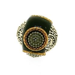 Kashmiri kraal, rond, zwart, 14 mm (5 st.)