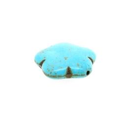 Gekleurd Turquoise, kraal, bloem, turquoise, 16 mm (5 st.)