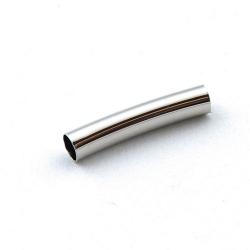 Metaal, buisje, gebogen, zilver, 25 mm (6 st.)