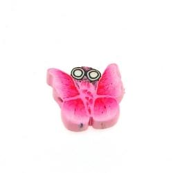 Fimokraal, vlinder, roze, 10 mm (streng)