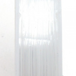 Elastiek rijgdraad 0.4mm transparant (10 meter)