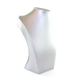 Buste, PU leer, zilver, 22 x 17 cm (1 st.)