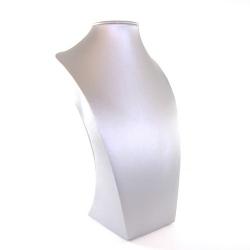 Buste, PU leer, zilver, 30 x 18 cm (1 st.)