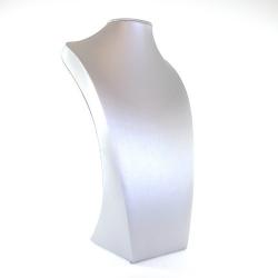 Buste, PU leer, zilver, 35 x 20 cm (1 st.)
