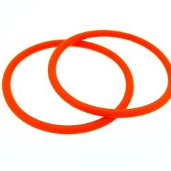 Siliconen armbandje, 4 mm, oranje (1 st.)