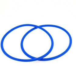 Siliconen armbandje, 3 mm, blauw (1 st.)