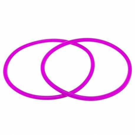 Siliconen armbandje, 3 mm, cyclaam roze (1 st.)